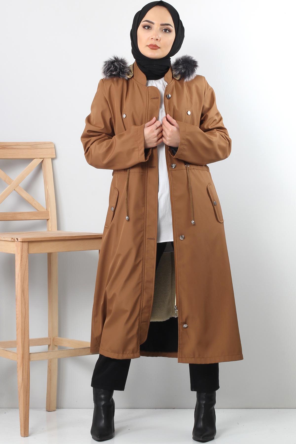 معطف فرو TSD1870 ترابي