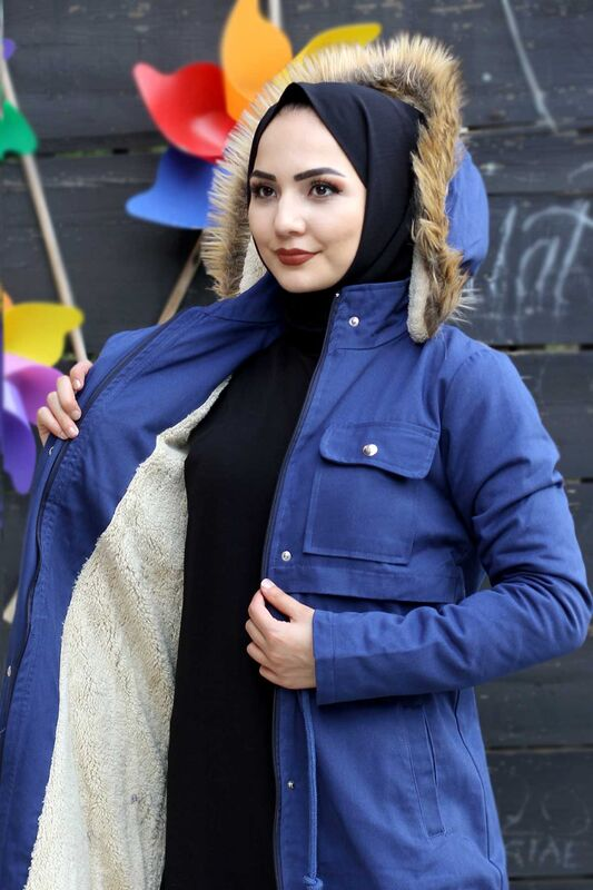 معطف بجيب TSD2026 النيلي