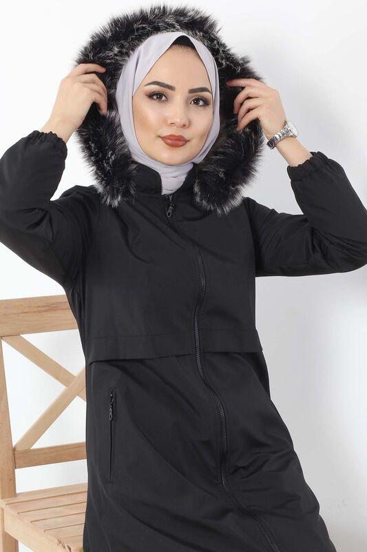 معطف واق من المطر TSD3009 أسود