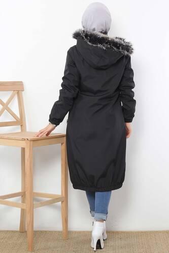 معطف واق من المطر TSD3009 أسود - Thumbnail