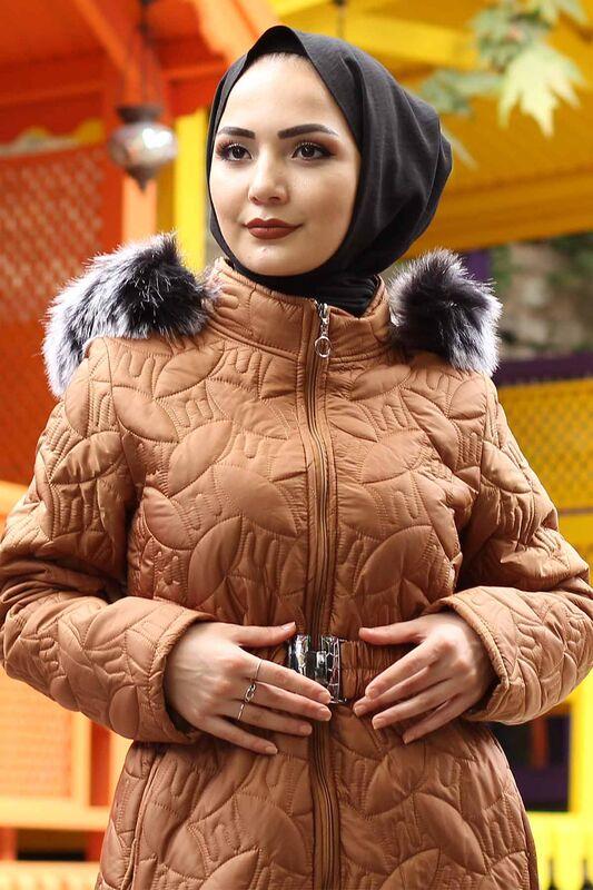 معطف مبطن حجم كبير TSD9904 طابا