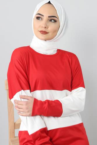 TSD9984 Sports Suit - Red - Thumbnail
