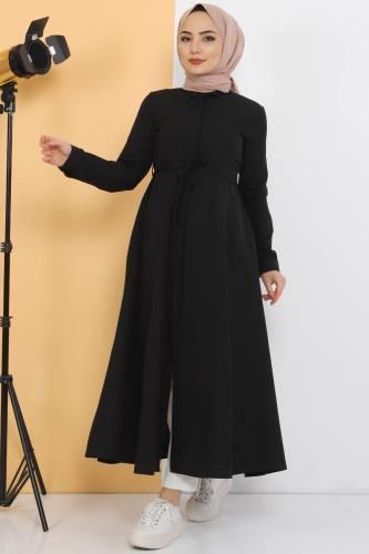 Tesettür Dünyası - Uzun Tunik TSD2738 Siyah
