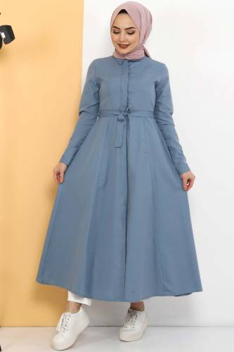 Uzun Tunik TSD2738 Kot Mavisi - Thumbnail