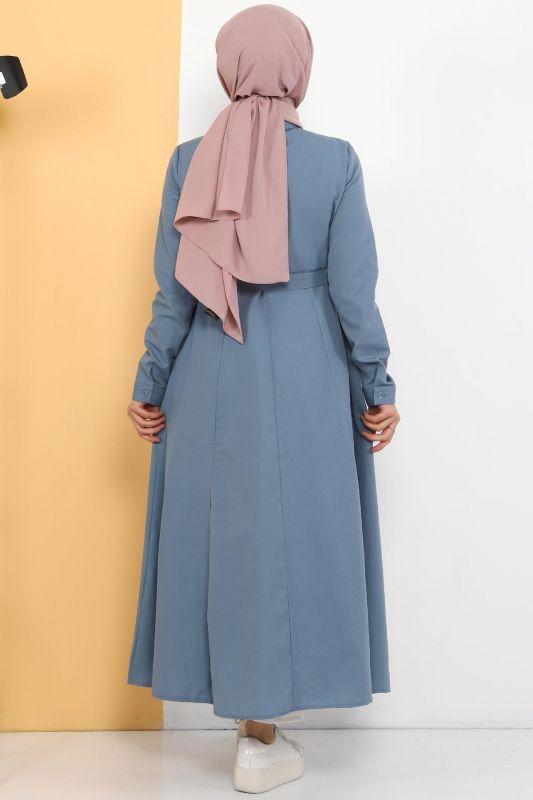 Uzun Tunik TSD2738 Kot Mavisi