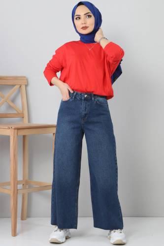 Wide Jeans TSD22006 Dark Blue - Thumbnail