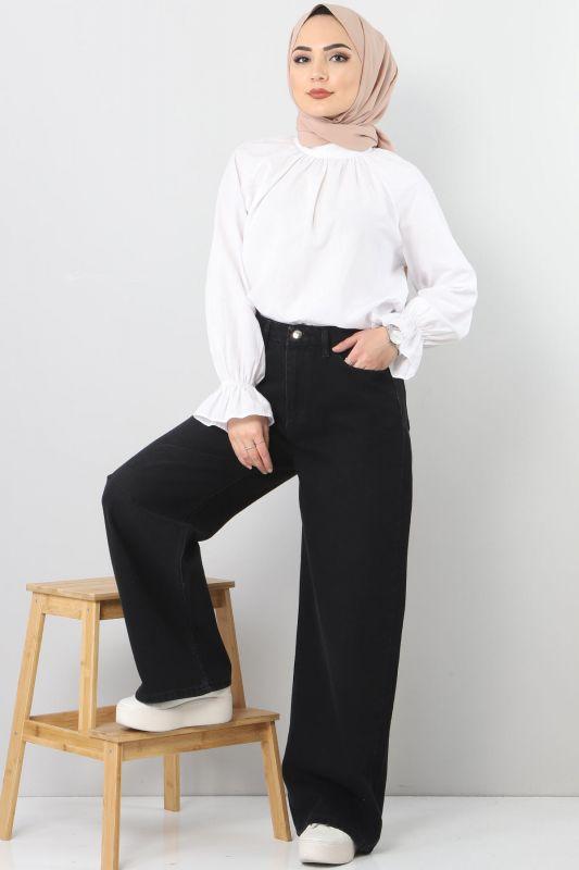 Wide Leg Jeans TSD22007 Black