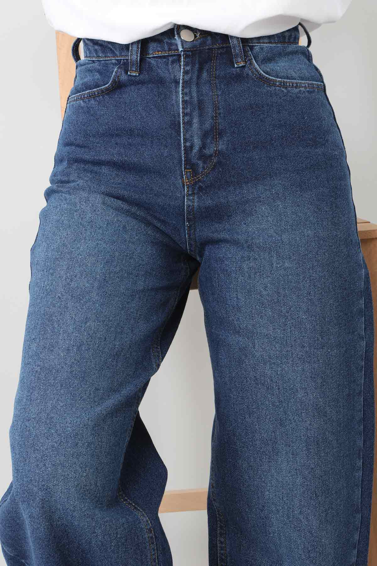 Wide Leg Jeans TSD22007 Dark Blue