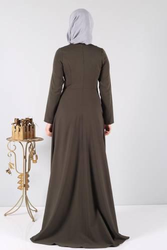 Zeynep Desen Abiye STY1890 Haki - Thumbnail