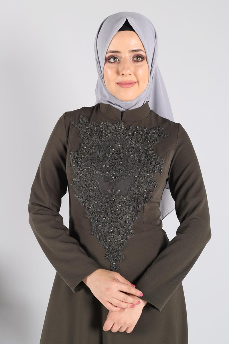Zeynep Desen Abiye STY1890 Haki