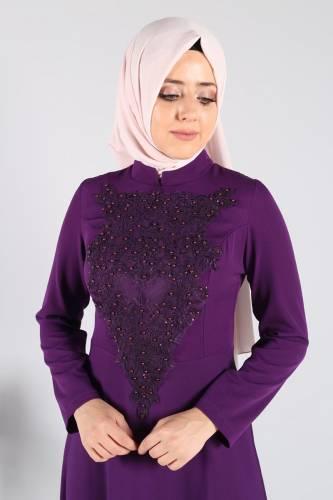 Zeynep Desen Abiye STY1890 Mor - Thumbnail